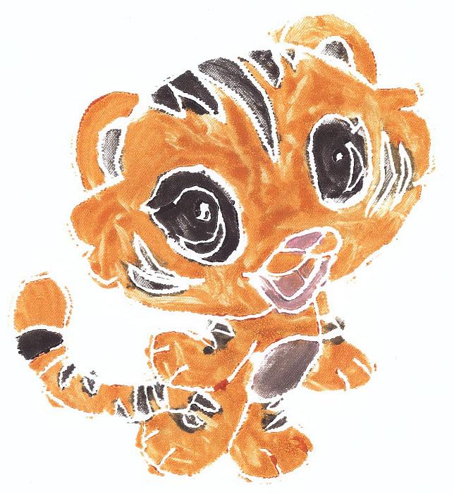 Anna.Tīģeris.Linogriezums.